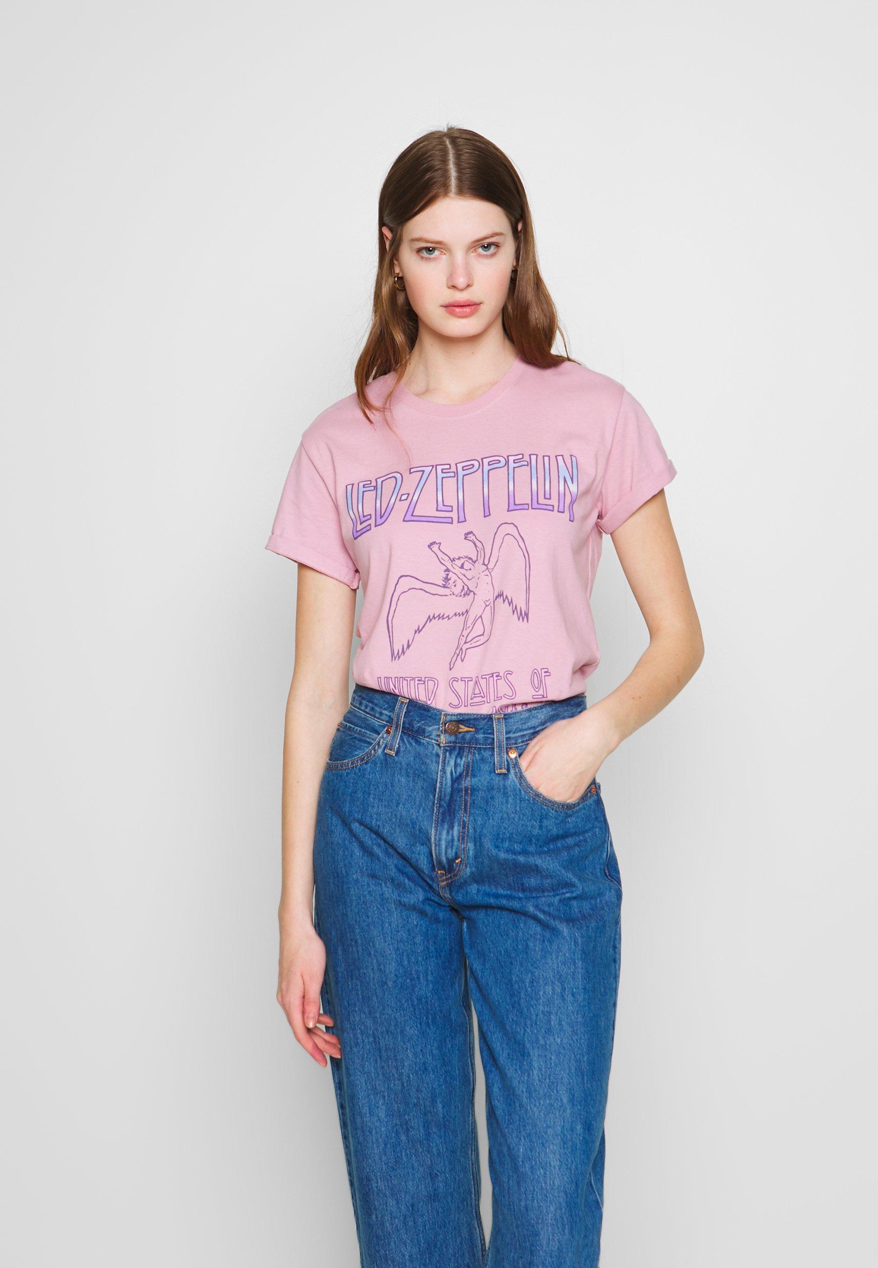 Cotton On CLASSIC BAND - T-shirt z nadrukiem - pink
