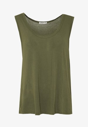 THE PARKER DEEP SCOOP TANK - Top - oil green