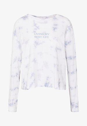 RELAXED FIT GRAPHIC LONG SLEEVE - Topper langermet - white/light blue