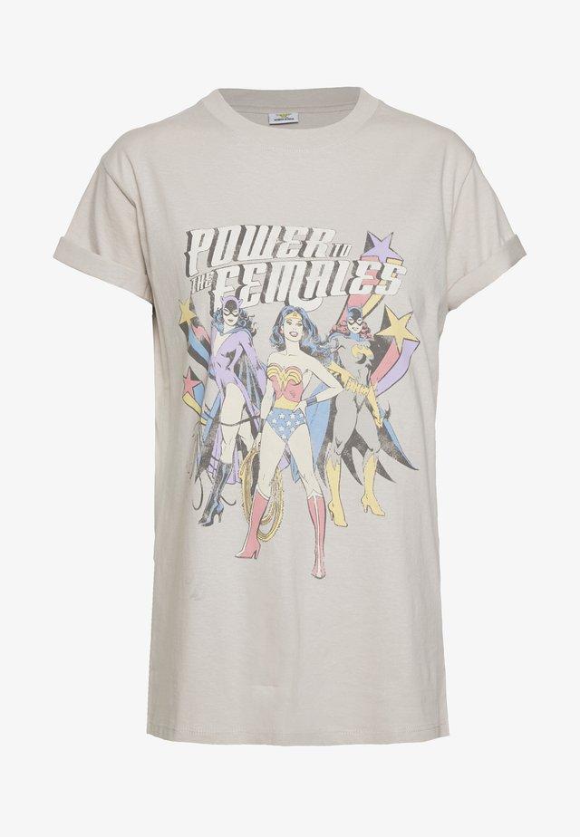 CLASSIC MOVIE TEE - T-shirt z nadrukiem - silver grey