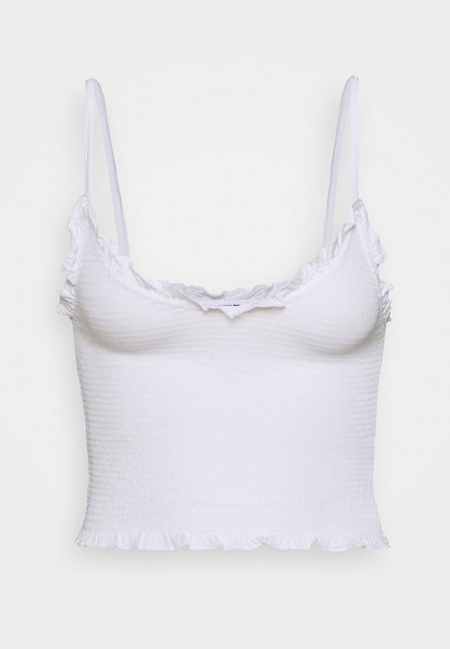 ROUCHED STRAPPY CAMI - Top - white