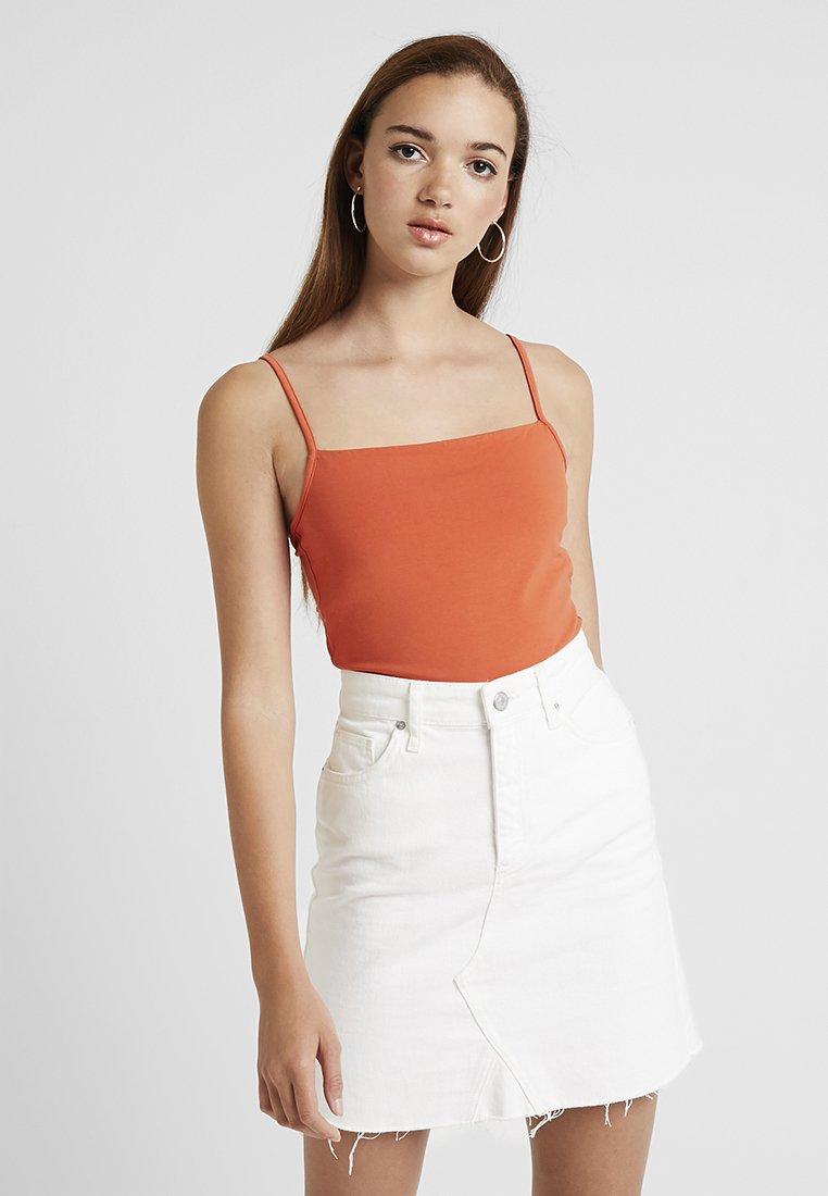 Cotton On - CARISSA STRAIGHT BACK - Top - burnt ochre