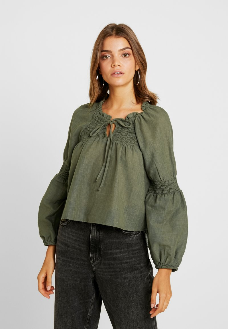 Cotton On - BREANNE BLOUSSON SLEEVE - Blouse - olive night