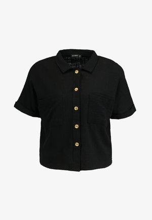 ERIN SHORT SLEEVE - Overhemdblouse - black
