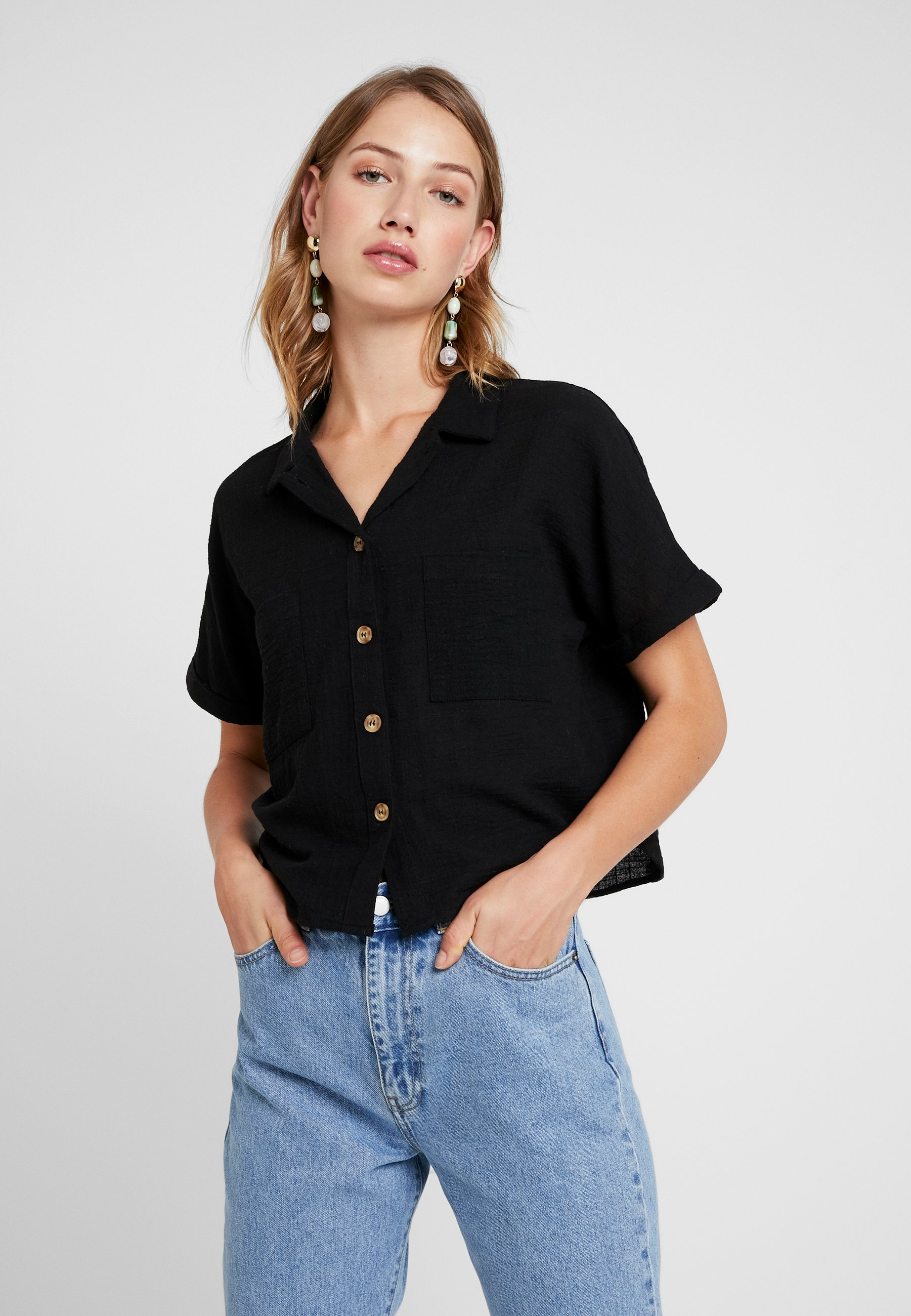 Erin SleeveChemisier Cotton On Short Black 67Yfgby
