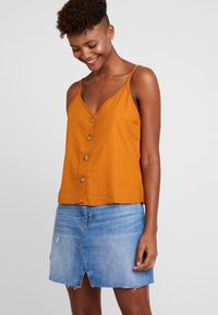 Cotton On - ALLIE BUTTON FRONT CAMI - Top - rust tan - 0