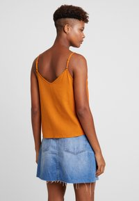 Cotton On - ALLIE BUTTON FRONT CAMI - Top - rust tan - 2