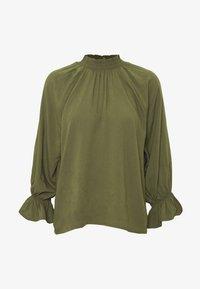 Cotton On - MOCK NECK FRILL SLEEVE - Bluser - khaki - 4