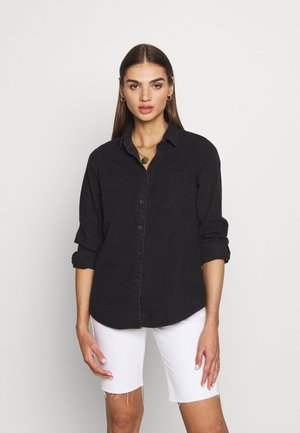 Button-down blouse - black wash