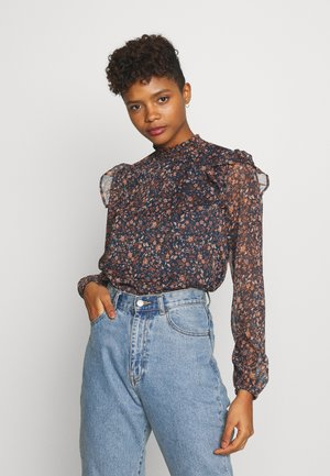 MOCK NECK BLOUSE - Blouse - alma midnight navy