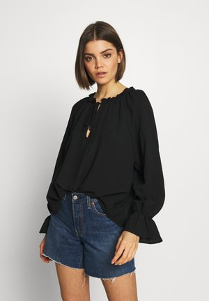 FRILL SLEEVE FASHION BLOUSE - Blouse - black