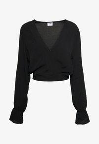 Cotton On - SPLICE WRAP BLOUSE - Bluser - black - 3