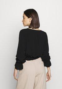Cotton On - SPLICE WRAP BLOUSE - Bluser - black - 2