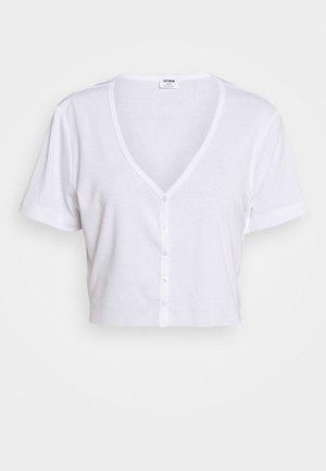 JESSIE BUTTON THROUGH HENLEY SHORT SLEEVE - Print T-shirt - white