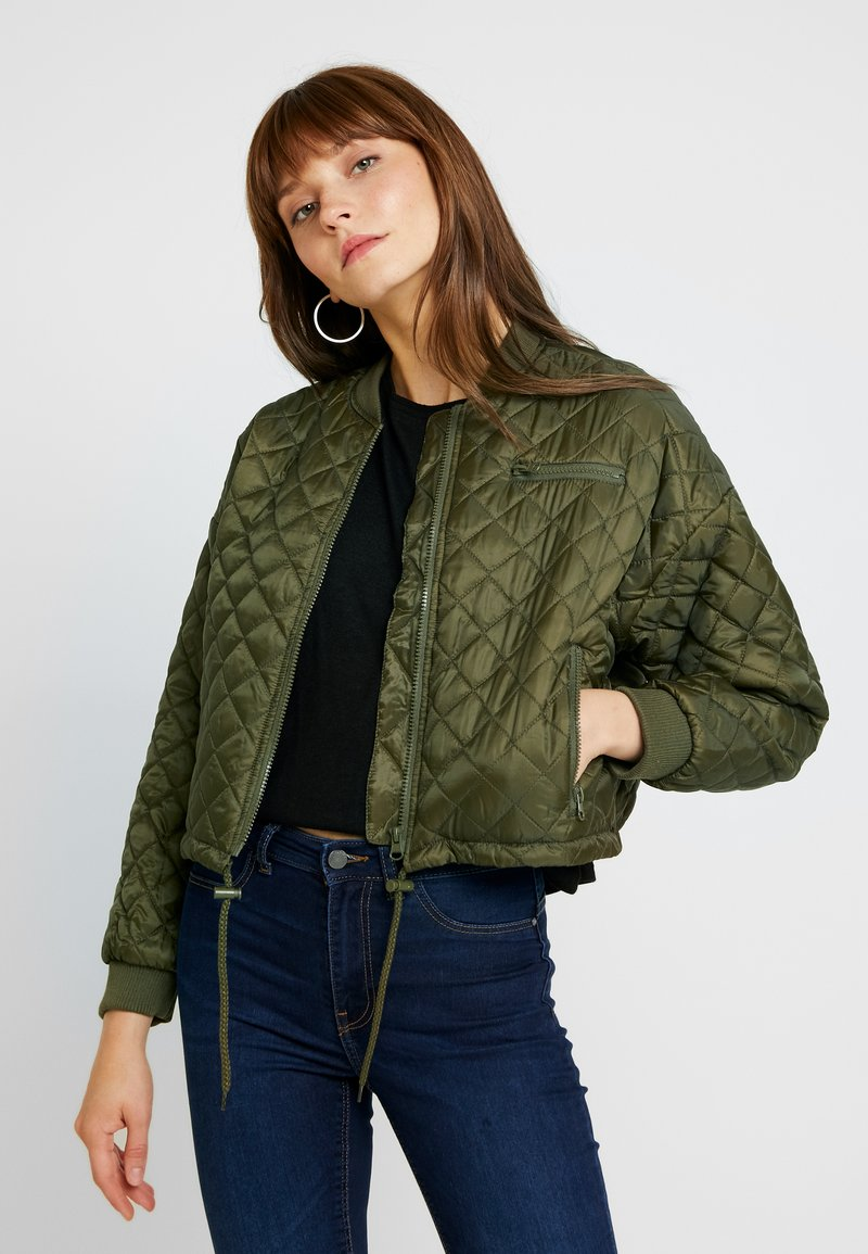 Cotton On - QUILTED - Chaquetas bomber - burnt olive