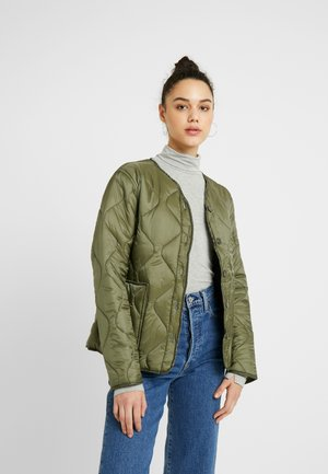 ERIN QUILTED SHELL JACKET - Bomberjacks - winter moss