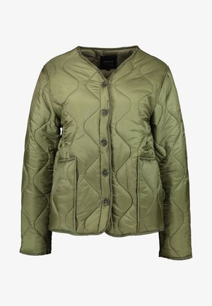 ERIN QUILTED SHELL JACKET - Bombejakke - winter moss