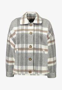 Cotton On - CHECK TRUCKER - Välikausitakki - grey - 3
