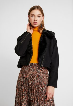 LUCY LUXE COLLAR BIKER - Giacca di jeans - acid black