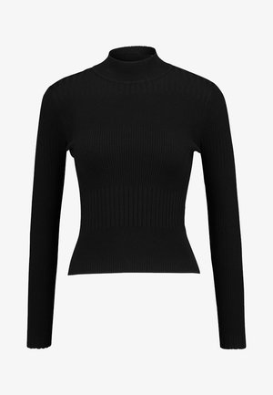 QUINNY VARIGATED - Jumper - black
