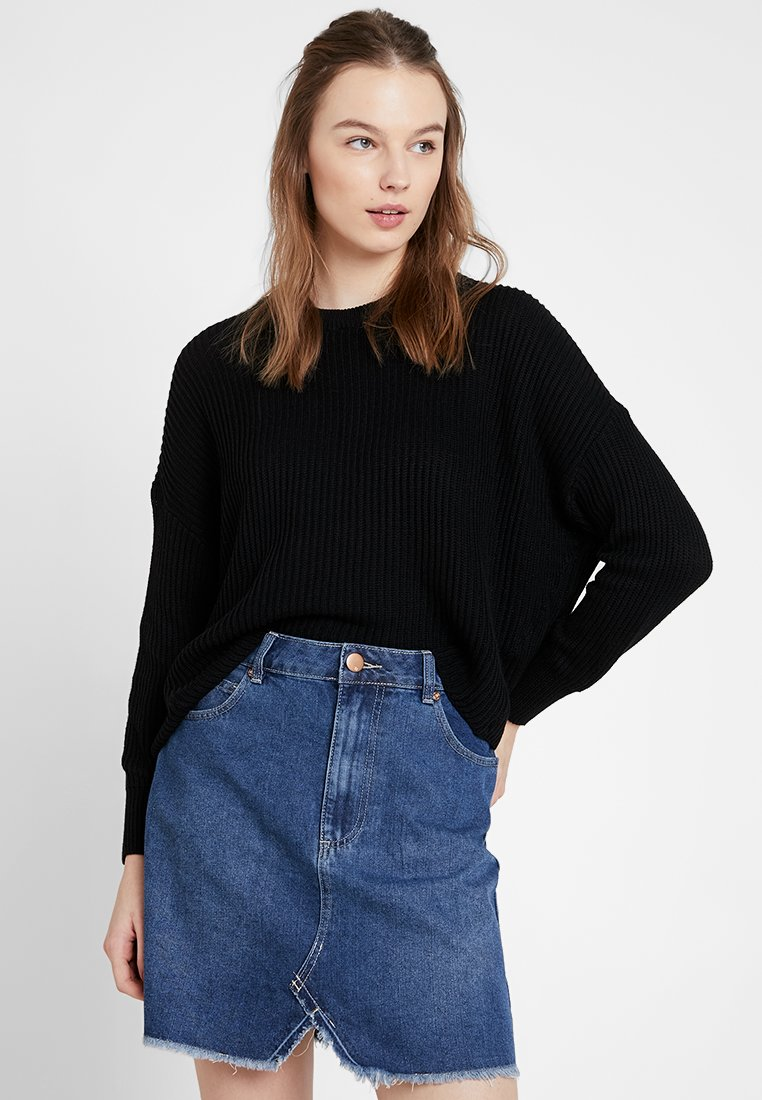 Cotton On - ARCHY CROPPED - Jersey de punto - black