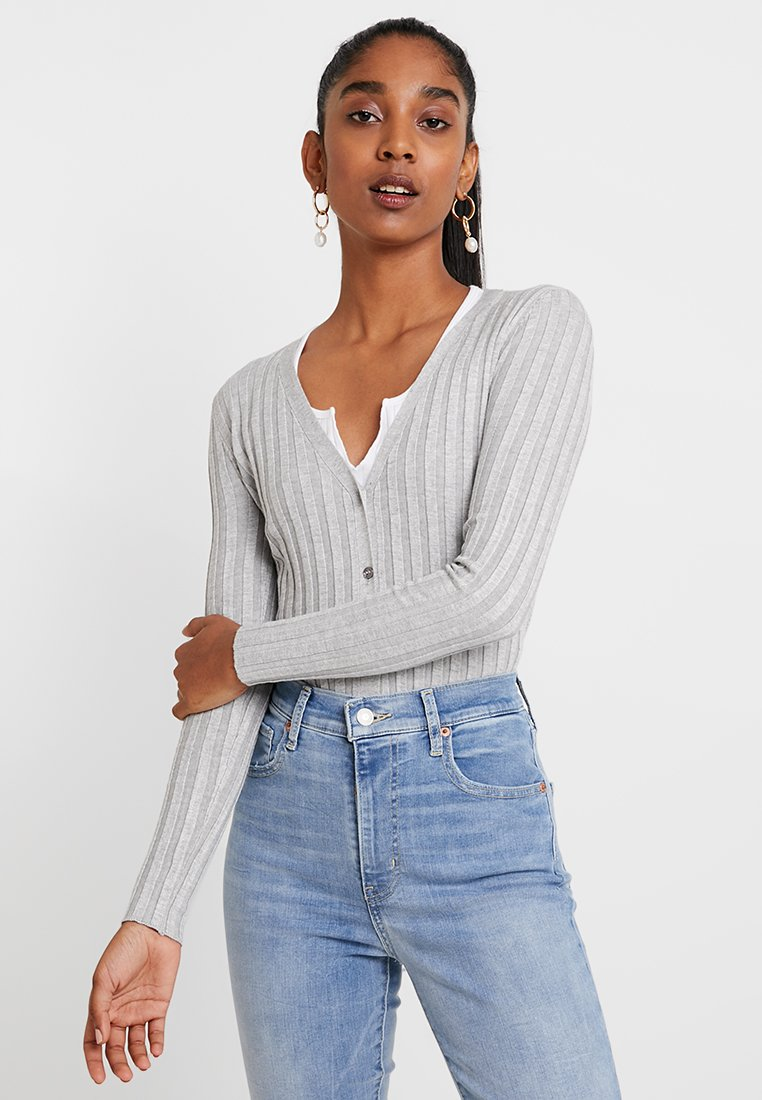 Cotton On - QUINNIE CROPPED CARDI - Cardigan - grey marle