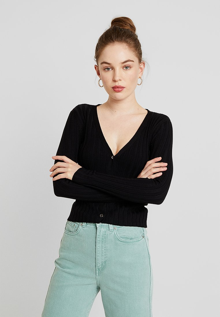 Cotton On - QUINNIE CROPPED CARDI - Strickjacke - black