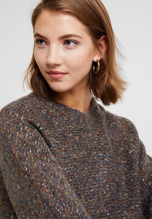 trwałe modelowanie Cotton On JERI BATWING - Sweter - charcoal marle Odzież Damska DQFK-WE8