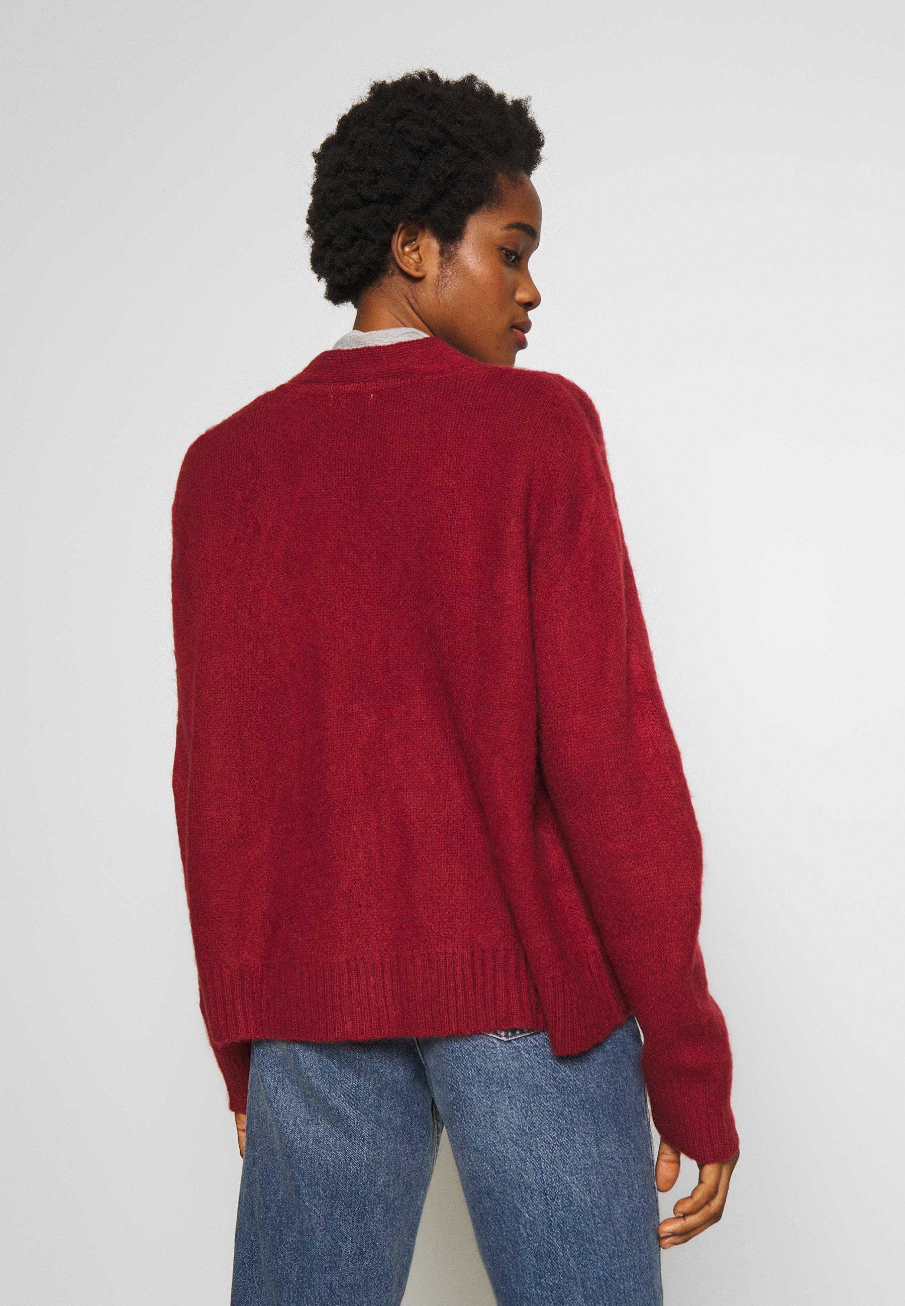 Cotton On KATE BRUSHED CARDI - Kardigan - garnet