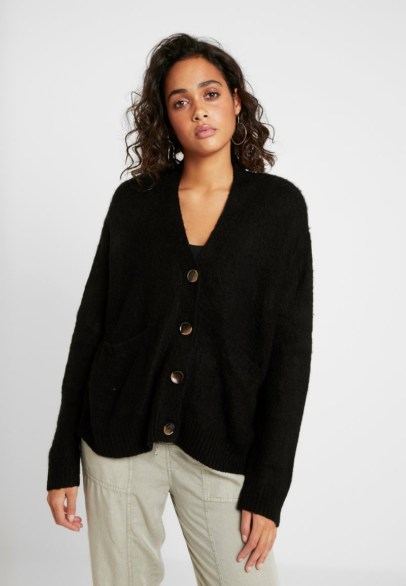 Cotton On - KATE BRUSHED CARDI - Chaqueta de punto - black
