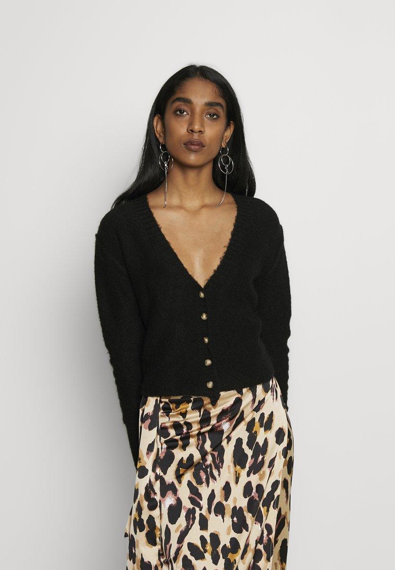 Cotton On - SEAM CROP  - Cardigan - black