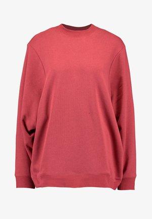 OVERSIZED DRAPEY CREW - Sweatshirts - garnet