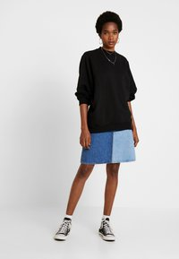 Cotton On - OVERSIZED DRAPEY CREW - Sudadera - black - 1