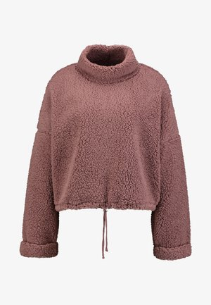 FUNNEL NECK TEDDY - Sweatshirt - burlwood