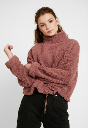 FUNNEL NECK TEDDY - Mikina - burlwood