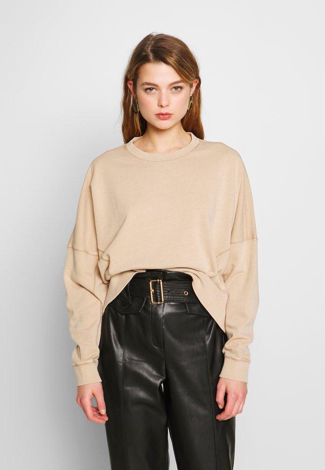 HAYLIE BOXY PANEL CREW - Sweatshirt - beige
