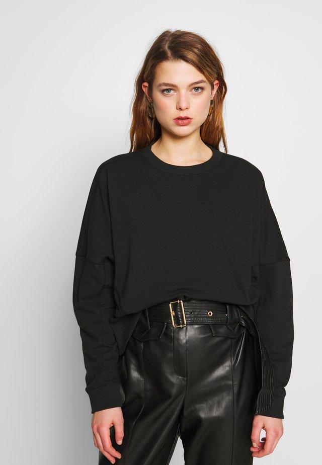 HAYLIE BOXY PANEL CREW - Sweatshirt - washed black
