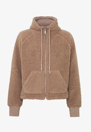 ZIP THRU CROPPED HOODIE - Winterjas - natural