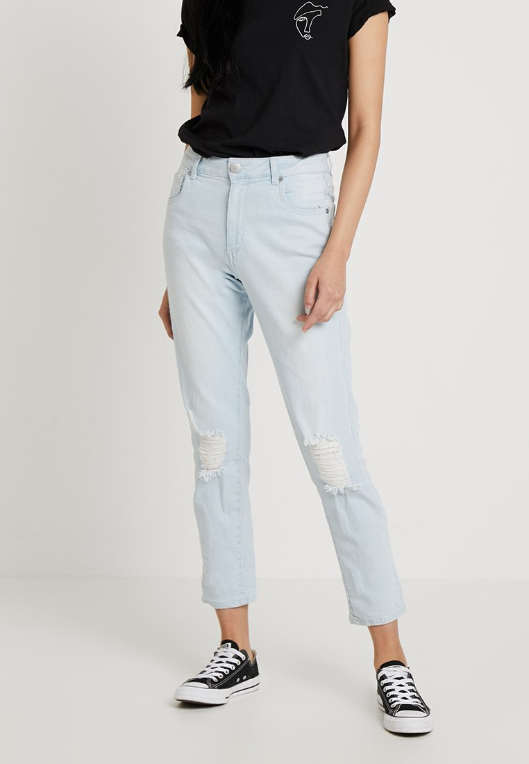 Cotton On - HIGH RISE - Slim fit jeans - bleach blue