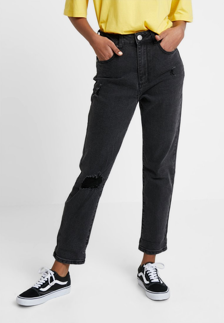 Cotton On - HIGH RISE - Slim fit jeans - washed black