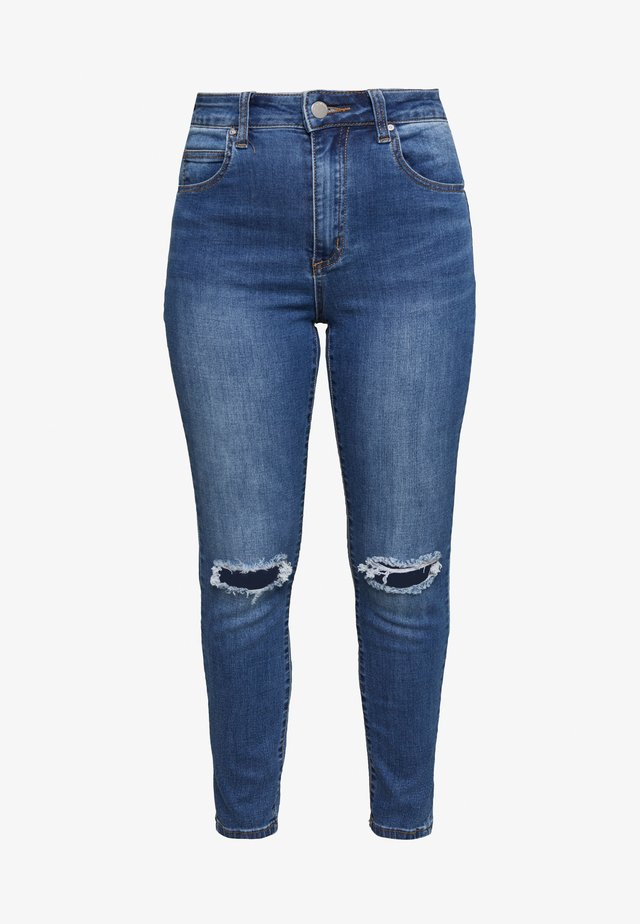 HIGH RISE CROPPED - Jeansy Skinny Fit - mid blue