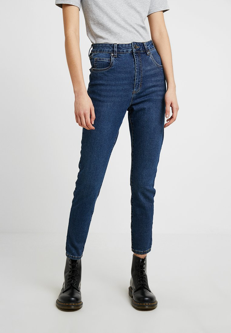 Cotton On HIGH RISE CROPPED - Jeansy Skinny Fit - true stone blue