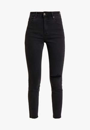 HIGH RISE CROPPED - Jeans Skinny Fit - washed black