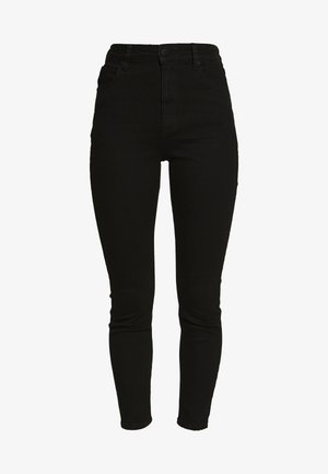 HIGH RISE CROPPED - Jeansy Skinny Fit - black denim