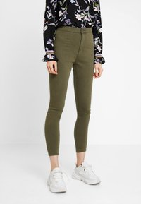 Cotton On - HIGH RISE - Jeans Skinny Fit - khaki - 0