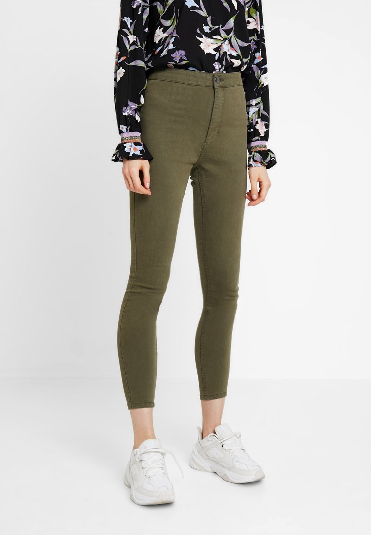 Cotton On - HIGH RISE - Jeans Skinny Fit - khaki