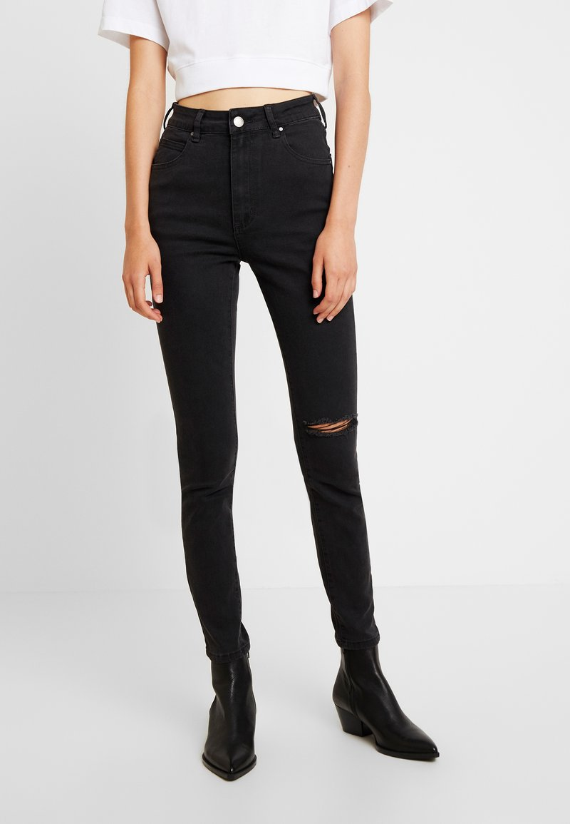 Cotton On - HIGH  - Jeansy Skinny Fit - washed black