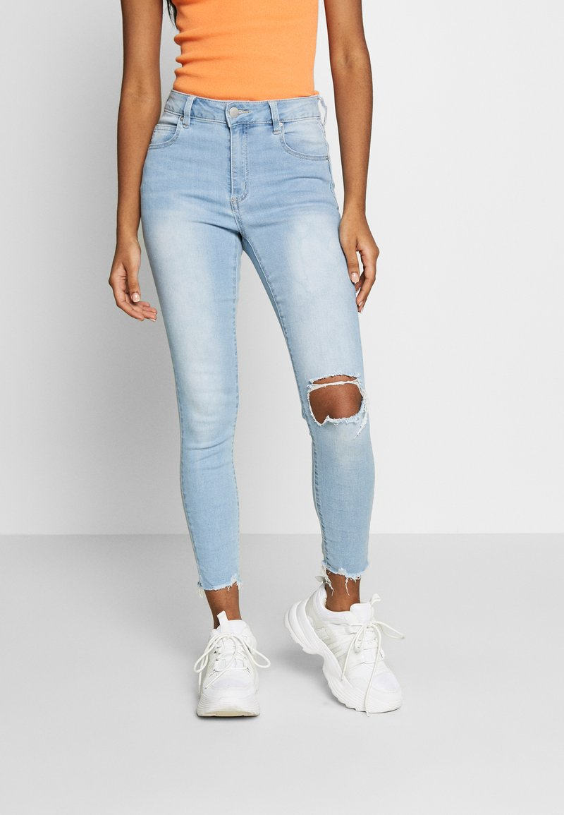 Cotton On - MID RISE GRAZER  - Jeans Skinny Fit - bleach blue