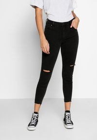 Cotton On - MID RISE GRAZER  - Skinny džíny - washed black - 0