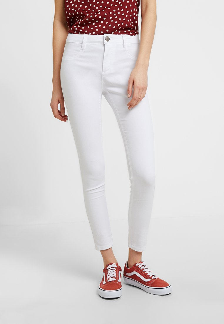 Cotton On - MID RISE - Vaqueros pitillo - white